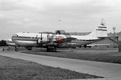 G-ANUB Boeing 377 Stratocruiser, BOAC, Heathrow