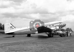 G-AOFZ Douglas DC-3, Derby Airways, Burnaston, 1962