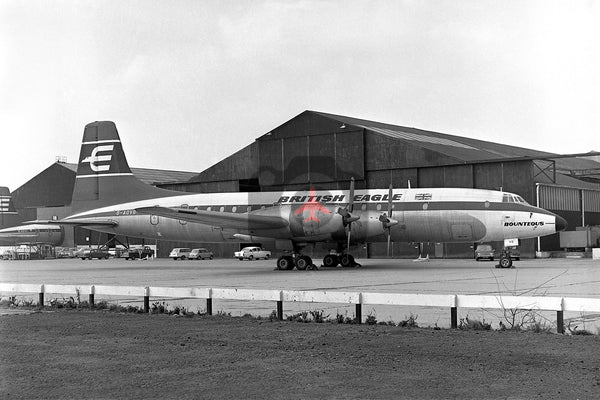 G-AOVG Bristol Britannia 312, British Eagle Airways, Heathrow