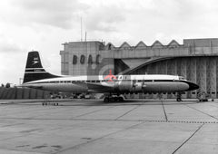 G-AOVJ Bristol Britannia 312, BOAC, Heathrow, 1963