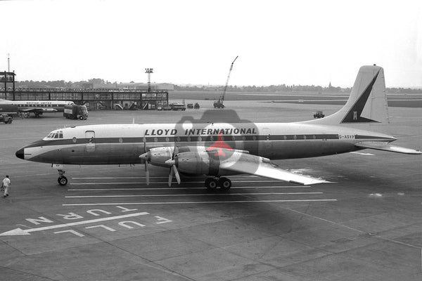 G-AOVP Bristol Britannia 312,  Lloyd International Airways, Gatwick