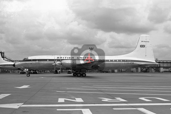 G-APNB Bristol Britannia 317, British United Airways, Gatwick