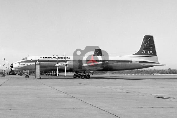 G-APNB Bristol Britannia 317, Donaldson International Airways, Gatwick