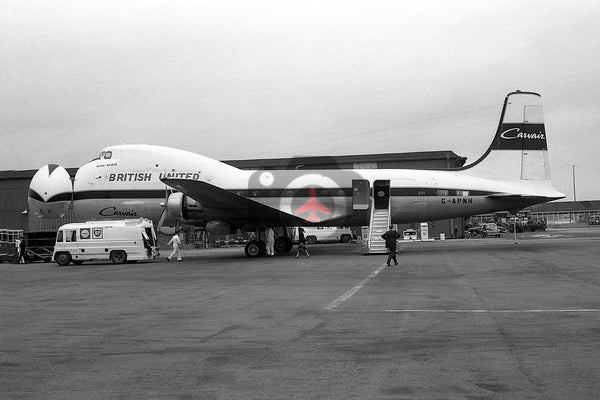 G-APNH Aviation Traders ATL98 Carvair, British United Airways, Baginton 1966