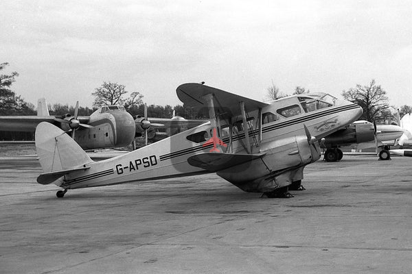 G-APSD De Havilland DH89A Dragon Rapide, Air Navigation and Trading Co,  Gatwick