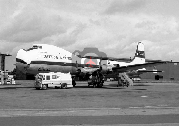 G-ARSD Aviation Traders ATL98 Carvair, British United Airways, Baginton, 1965