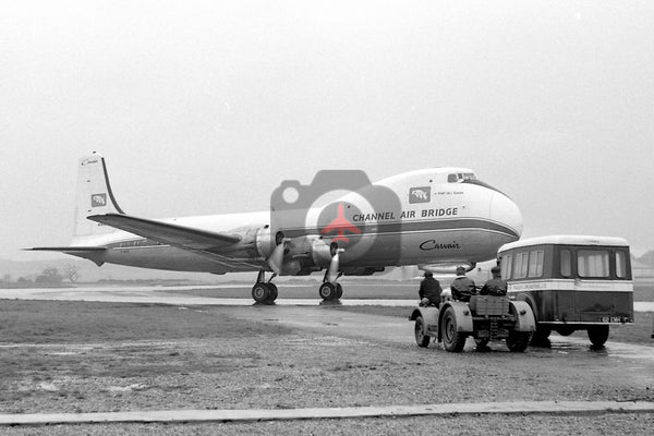 G-ARSF Aviation Traders ATL98 Carvair, British United Airways Channel Air Bridge, Southend 1962