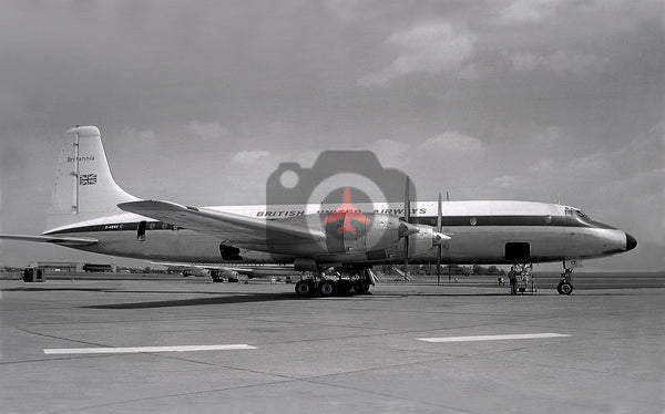 G-ARWZ Bristol Britannia 313, British United Airways
