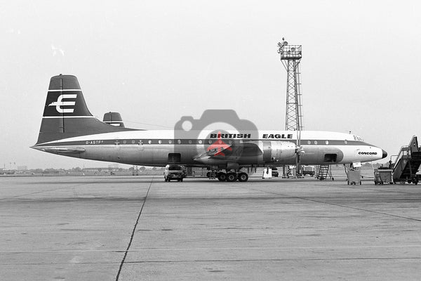 G-ASTF Bristol Britannia 313, British Eagle, Heathrow 1964