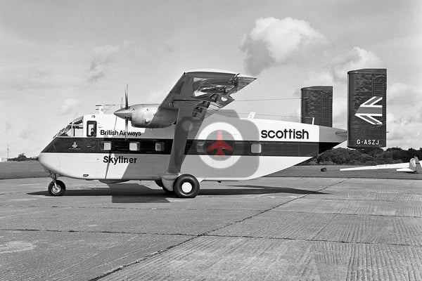 G-ASZJ Short SC7 Skyvan, British Airways Scottish Division