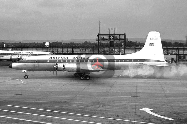 G-ATGD Bristol Britannia 314,  British United Airways, Gatwick