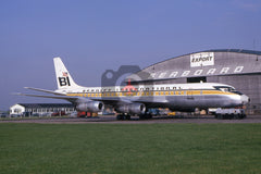 N1509U Douglas DC-8-55F, Braniff International Airways, Heathrow