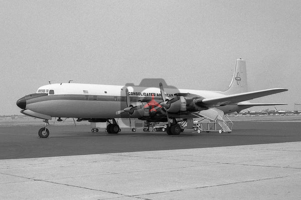 N9734Z Douglas DC-7C, Consolidated American Aviation Service, Long Beach 1968