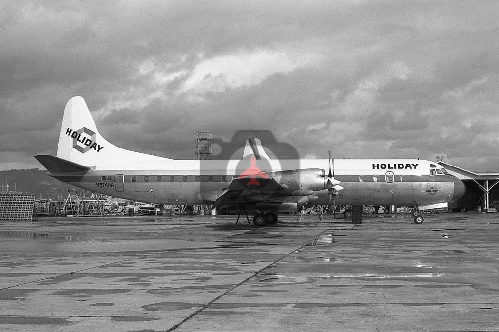 N974HA Lockheed L-188 Electra, Holiday Airlines, Oakland 1969 BW00428