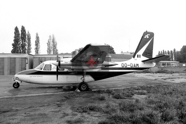 OO-DAM Aero  Commander 500B, Aero Survey