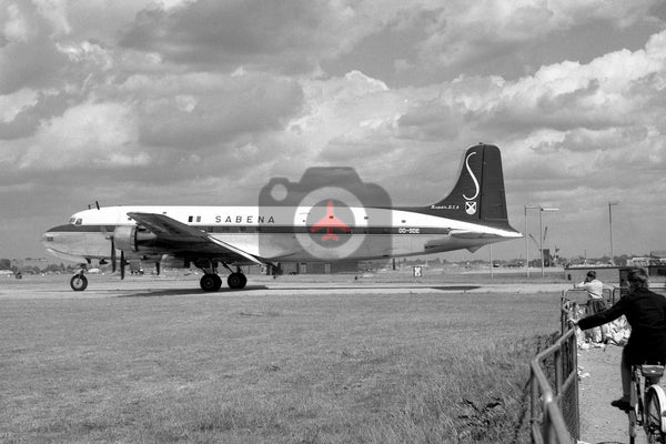 OO-SDE Douglas DC-6, Sabena, Heathrow
