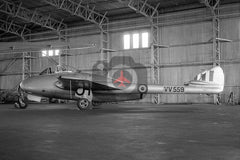 VV559 De Havilland Vampire FB.5, RAF, Woodvale 1959