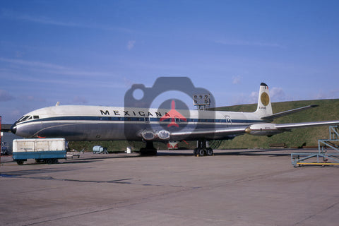 XA-NAB De Havilland DH 106 Comet 4, Mexicana, London Heathrow, 1970