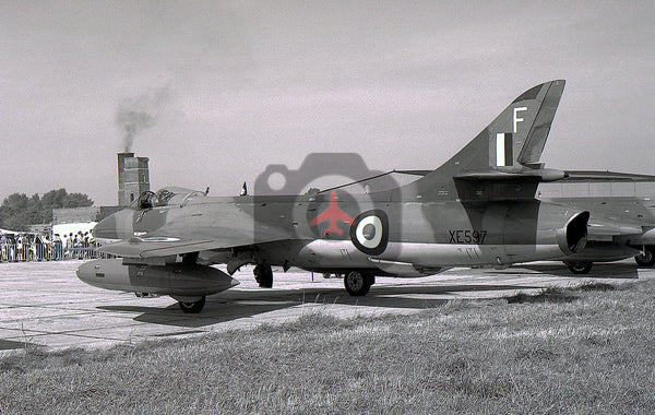 XE597 Hawker  Hunter FGA.9, RAF, Biggin Hill 1970