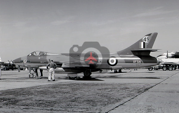 XF516(49) Hawker Hunter F.6A, RAF, Lakenheath 1965