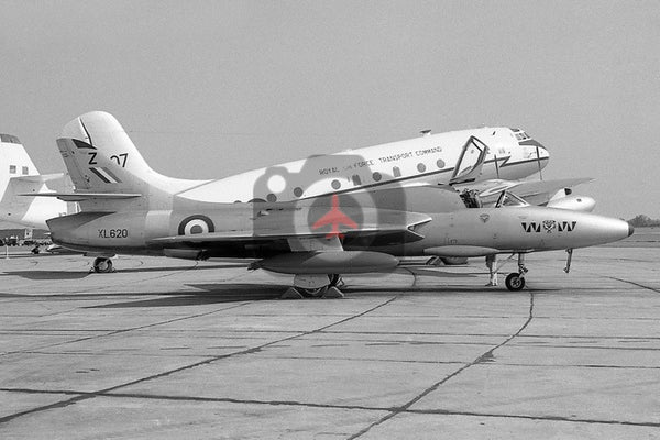 XL620(Z) Hawker Hunter T.7, RAF, Waterbeach 1961