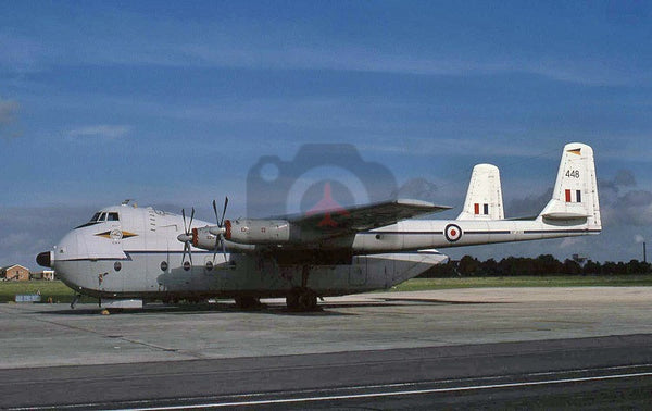 XP448 Armstrong Whitworth AW660 Argosy E1, RAF(115Sqn), 1977