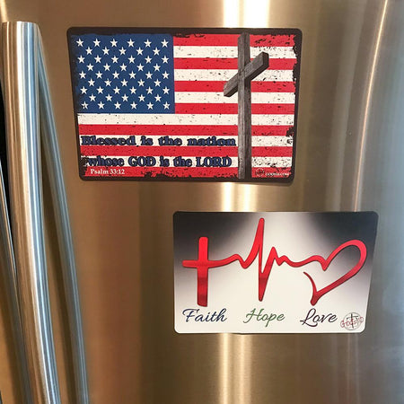 Faith, Hope, Love & American Flag RWB BUNDLE (LIMIT 5 PER PERSON)