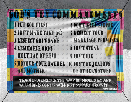 10 Commandments For Kids - Banner