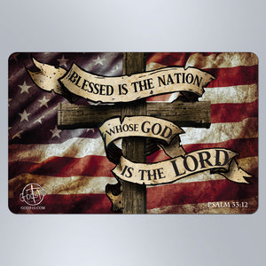 Flag Dark Blessed Is The Nation - Large Magnet