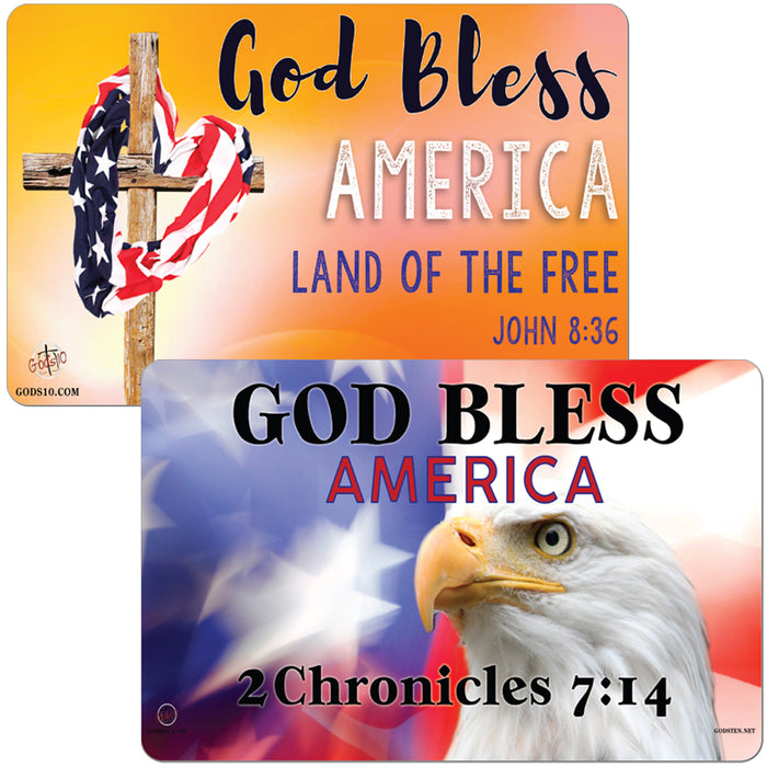 God Bless America Orange & Eagle Small Magnet Bundle