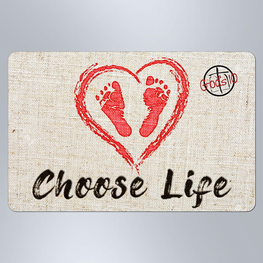 Choose Life Baby Feet - Small Magnet