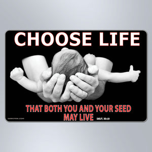 Choose Life With Verse - Large Magnet