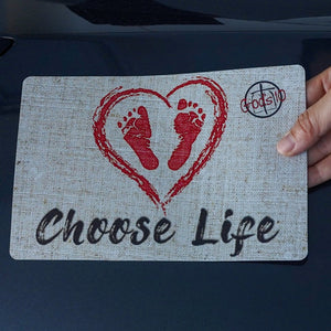 Choose Life Baby Footprints - Small Magnet