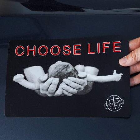 Choose Life Holding Baby - Small Magnet