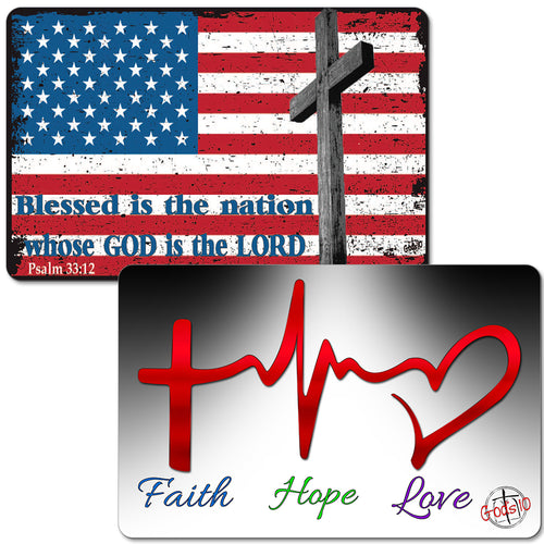 Faith, Hope, Love + American Flag Blessed is the Nation (LIMIT 5 PER PERSON)