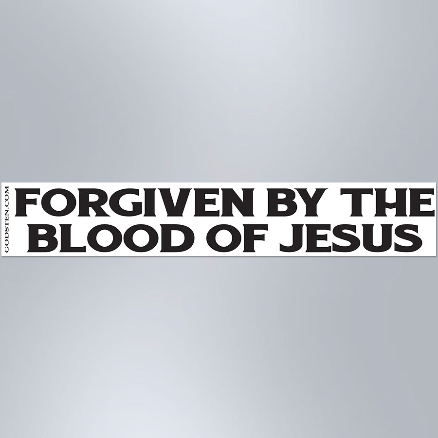 Forgiven By The Blood Of Jesus - Large Strip Magnet