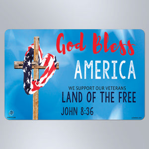 God Bless America Blue - Large Magnet