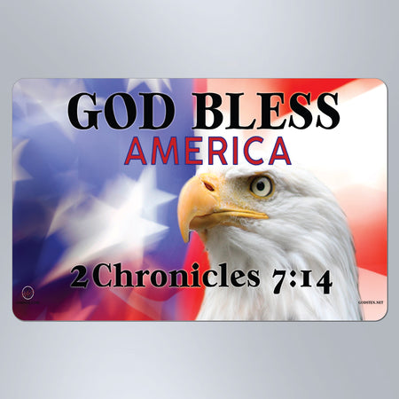 God Bless America Eagle - Small Magnet
