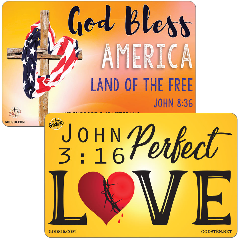 BUY ONE, GET ONE FREE!!  God Bless Orange & Perfect Love BUNDLE (LIMIT 5 PER PERSON)