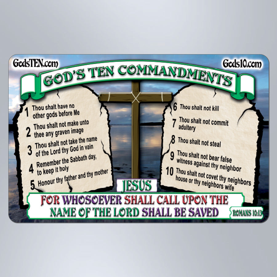 10 Commandments For Whosoever Shall Call Upon - Large Magnet