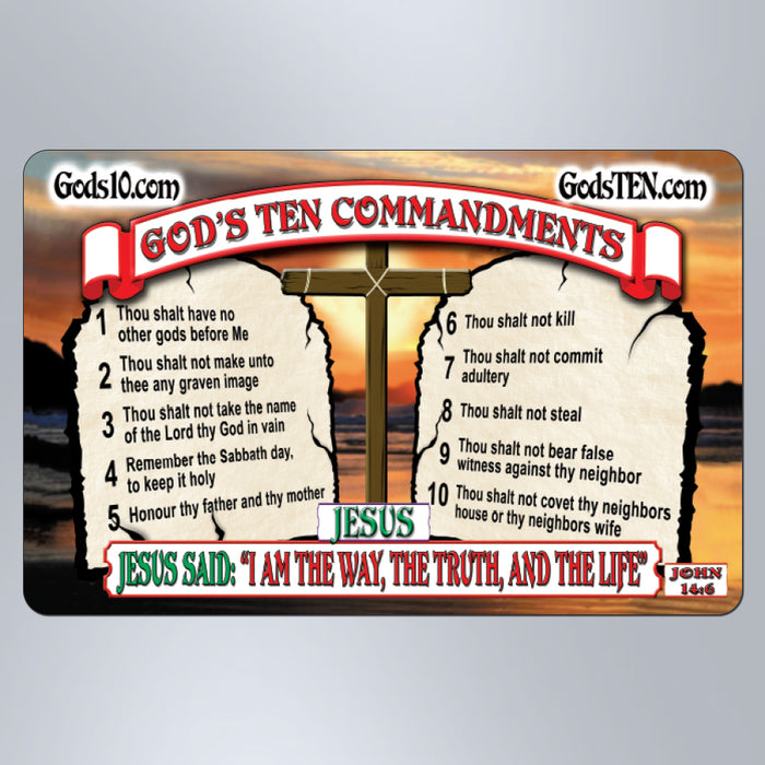 10 Commandments I Am The Way, The Truth, The Life - Large Magnet