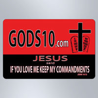 God's 10 If You Love Me Keep My Commandments - Small Magnet