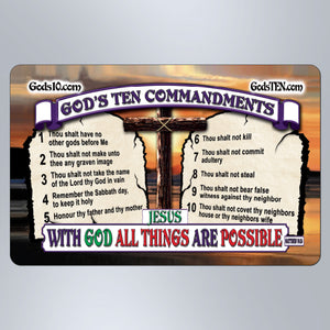 10 Commandments With God - Large Magnet