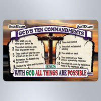 10 Commandments With God All Things Are Possible Original - Small Magnet