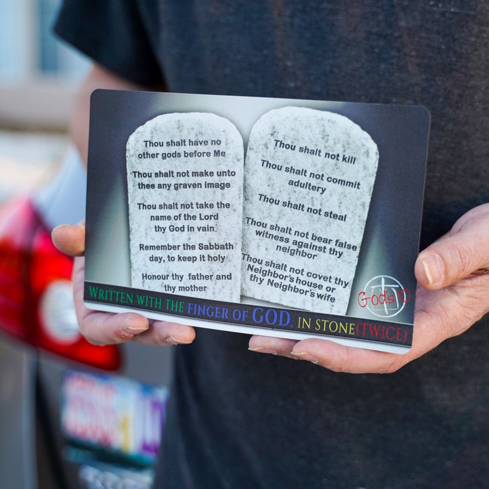 10 Commandments Stone Tablets Written With The Finger - Small Magnet
