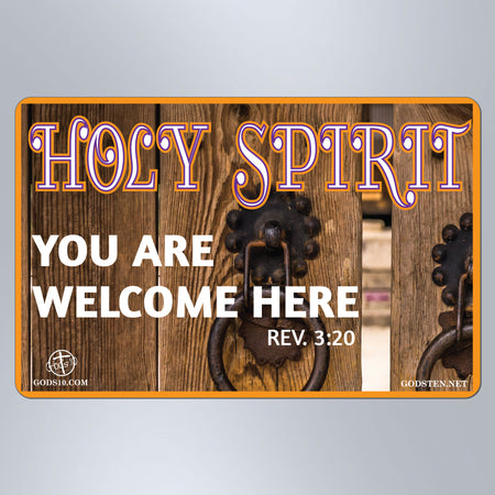 Holy Spirit You Are Welcome Here - Small Magnet