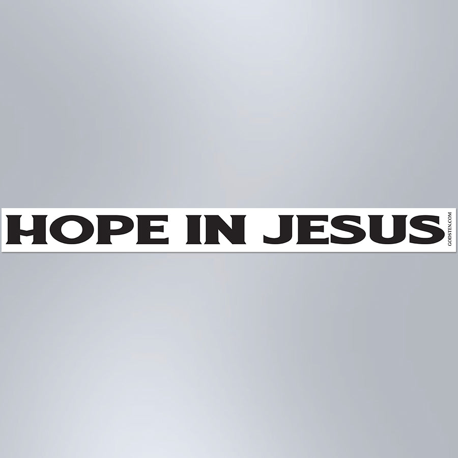Hope In Jesus - Small Strip Magnet