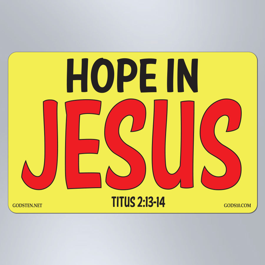 Hope In Jesus - Small Magnet