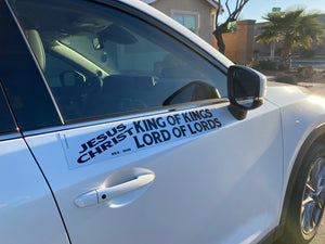 Jesus Christ King Of Kings Lord Of Lords - Large Strip Magnet