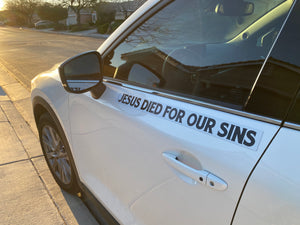 Jesus Paid For Our Sins - Small Strip Magnet